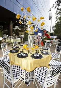 Black White And Yellow Decor Works Great On The Patio Too