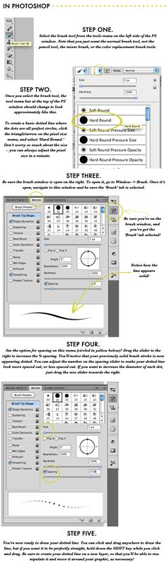 How to Create a Dotted Line in Photoshop (and Photoshop Elements)