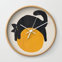 Buy Cat with ball Wall Clock by budikwan. Worldwide shipping available at Society6.com. Just one of millions of high quality products available.