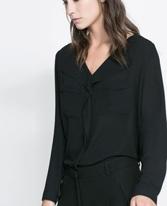 V - NECK BLOUSE - Shirts - Woman | ZARA United States
