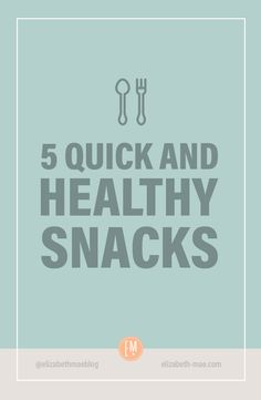 You can keep it simple with fresh fruit and vegetables or when you want to mix it up, you can make one of these quick, easy and filling snacks.