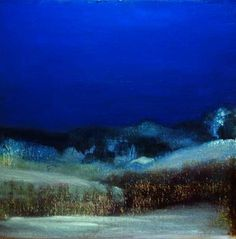 by John O' Grady,   Irish, night, snow, landscape, Christmas, painting, peace