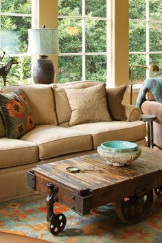Family-Friendly Living Rooms - Use our decorating ideas, tips, and tricks to design an inviting and elegant living room.