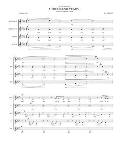 A Thousand Years by Christina Perri for SSAA a cappella Chorus