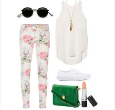 How to wear floral pants #floral #fashion