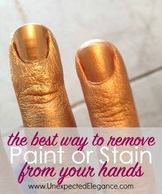 Have you ever gotten spray paint or stain on your skin and couldn't get it off?  Find out the best way to remove paint from your hands!!