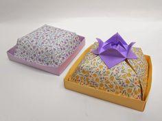 origami - cajas plegadas en papel