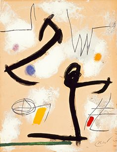 Joan Miró, Personnage, oiseaux, 1975.