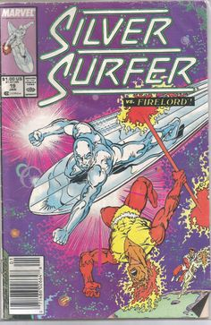 1988 Marvel Comics #19 SILVER SURFER vs. FIRELORD Free S/H USA!