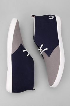 Fred Perry UO Exclusive Canvas Byron Chukka Sneaker $90.00-Urban Outfitters