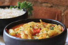 Moqueca de peixe, que vem acompanhada de arroz, prato do restaurante Zeffiro (Foto: Mariana Buck / Divulgação)
