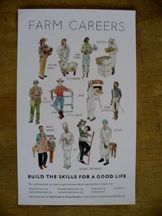 Farm Careers Poster by greenhorns on Etsy, $10.00
