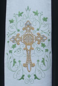 This is simply beautiful! Clergy Stole Vestment White with Filligree Cross by FaithThreads, $125.00