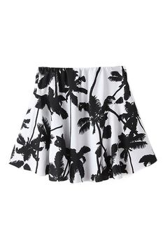 $19 Coconut Trees Elastic Pleated Print White Skirt http://www.romwe.com/romwe-coconut-trees-elastic-pleated-print-white-skirt-p-83249.html?Pinterest=fyerflys