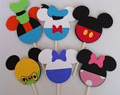 24 Mickey Mouse Clubhouse Cupcake Toppers