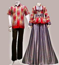 Baju Gamis Modern Terbaru  Detail produk model Gamis Batik Couple