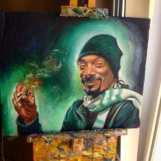 """Snoop Oil on cardboard 16 x 20"""""""