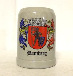 Bamberg West Germany Vintage Stein Knight by honeyblossomstudio