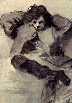 Arthur Rimbaud, Jean Louis Forain. French (1852 - 1931)   Via