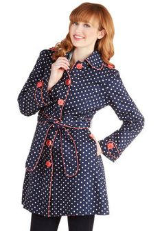 Darling and Dotted Coat, #ModCloth