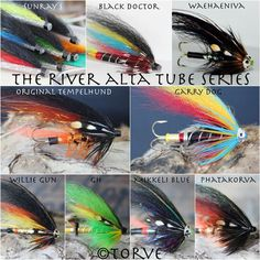 The River Alta Salmon Tube Series. Atlantic Salmon Flies tied by Torve