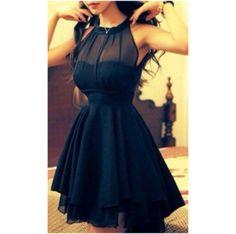 tengo una fiesta este el próximo mes pero quiero un vestido negro no muy largo ni muy corto