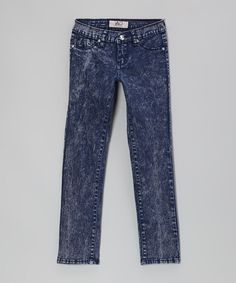 Take a look at this Dark Acid Wash Jeans by Lavo Collections on #zulily today!