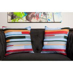 Maxwell Dickson 17.25 x 17.25-inch Stream Throw Pillow   Overstock.com