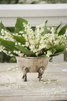 LILY OF THE VALLEY in silver One if my favorite flowers!!!