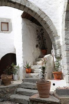 The beautiful Greek island of Patmos has one major claim to fame - St John was exiled here, and in a small cave, had the visions which le. Greece Today, Porch And Terrace, Places In Greece, Greek Design, Greece Islands, Greece Travel, Architecture Design, Places To Go, Beautiful Places