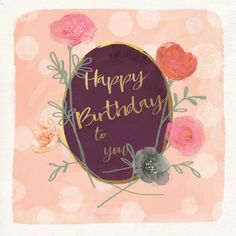 Birthday Card. This greetings card  is hand-finished with gems and glitter. The card size is 6 x 6 inches and comes with a white envelope. This card is left blank for your message.