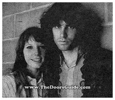 Jim Morrison and girlfriend Pamela Courson backstage before The Doors concert at Brown University in Providence, RI on September 22, 1967