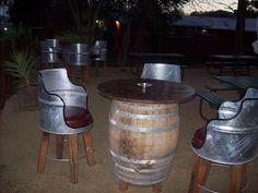 Aussie drum & barrel furniture.