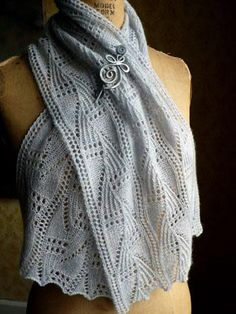 A fine, nearly-weightless lace scarf which captures the curling, fernlike imprints of frost feathers on cold glass. Anne Hanson, Universal Yarn, Baby Scarf, Christmas Knitting Patterns, Plymouth Yarn, Lang Yarns, Dress Gloves, Red Heart Yarn, Arm Knitting
