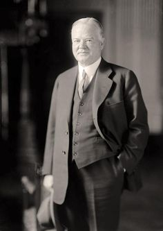Born on (1874-1964).  He was president from 1929-1933. His term saw the onset of the Great depression. Associated with hoovervilles. Promised banishment of poverty.
