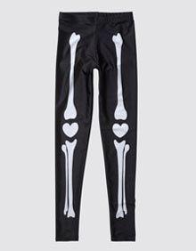 Buy the Girls Lovely Bones Leggings at Drop Dead Clothing