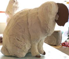 Paper Mache Cat Armature, lesson # 3 in the video series.