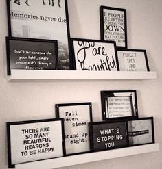 Framed Quote Shelf