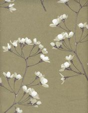 Blossom Gold Linen Fabric