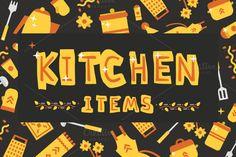 Illustrations kitchen items by KULISTOV on Creative Market