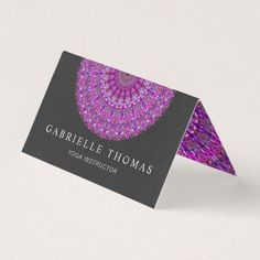 Shop business card created by ZyddArt. Folded Business Cards, Elegant Business Cards, Business Card Design, Print Templates, Card Templates, Print Design, Graphic Design, Mandala, Prints