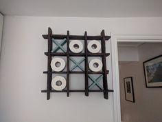 Pallet toilet roll holder