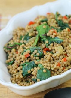 Spinach, Red pepper & Sweet Onion Whole Wheat Cous Cous