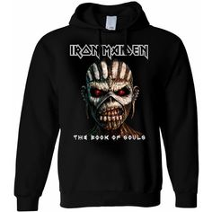 Iron Maiden Hooded Top: Book of Souls
