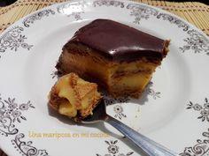 Una mariposa en mi cocina: Tarta de galletas y flan