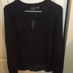 Covington black shirt. Covington two-piece black dress shirt size large. Very dressy. Covington Tops Blouses