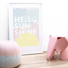 FRIDAY - TODAY Hello Sunshine Art Poster --- Offset printed on 200gsm uncoated premium archival, carbon neutral paper.Paper size is 50 x 70 cmAll of our posters come unframed and are carefully packed and shipped in a cardboard tube.