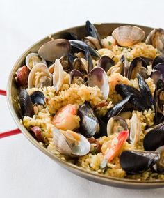 Seafood Paella ~ Paella has become a complete classic. When most people think of Spanish cuisine they normally think of either tapas or paella.