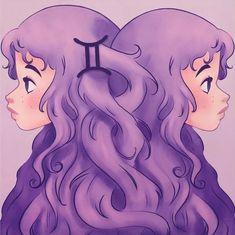 Zodiac Sign - Gemini Art Print by sophiehei Anime Zodiac, Zodiac Art, 12 Zodiac, Gemini Art, Zodiac Signs Gemini, Art Zodiaque, Zodiac Characters, Moon Signs, Daily Drawing