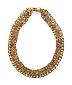 Golden Plated Chain On Chain Necklace